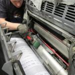 Spanner repair to Ryobi 522 Impression cylinder.